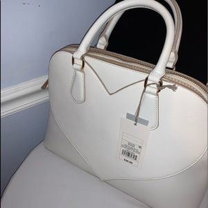 Brand new with tag heart cream white colored purse